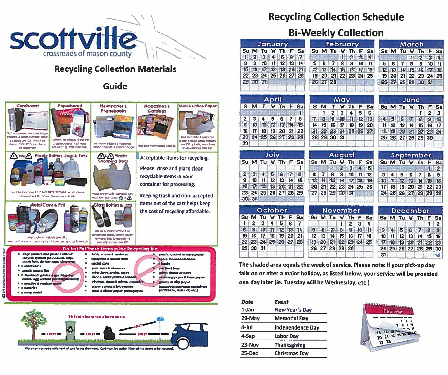 City of Scottville Recycling Guide